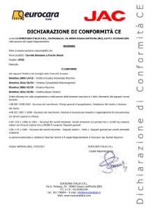 Dichiarazione di conformity СE